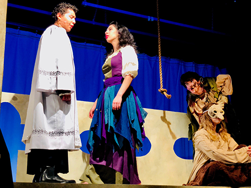 Annandale High School students perform The Hunchback of Notre Dame.